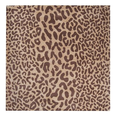 Macias Hand-Woven Tan Area Rug Rug Size: Square 6