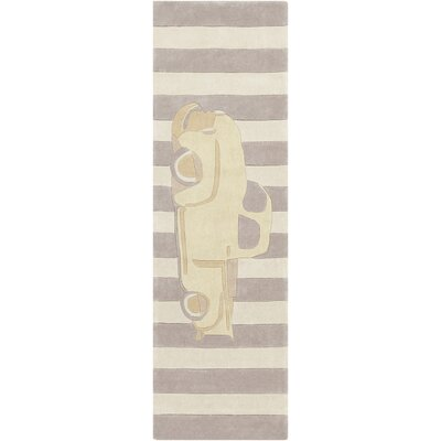 Cherish Hand-Tufted Beige/Brown Area Rug Rug size: Runner 26 x 8