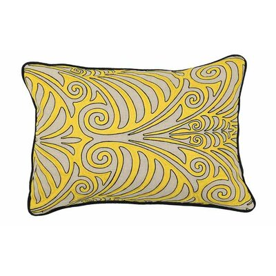 Mead Linen Lumbar Pillow Color: Yellow