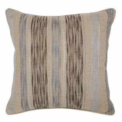 Viswa Linen Throw Pillow Color: Natural / Charcoal