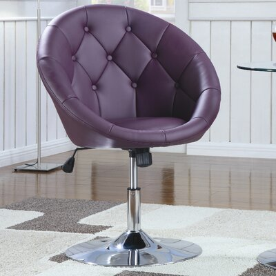 Graves Adjustable Height Swivel Bar Stool Upholstery: Purple