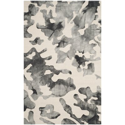 Chancey Dip Dyed Beige & Charcoal Area Rug Rug Size: 4 x 6