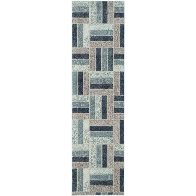 Mercado Gray/Blue Area Rug Rug Size: Runner 22 x 8