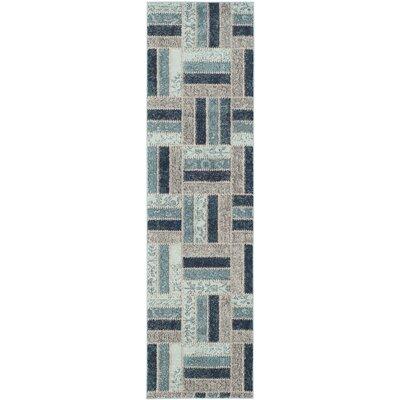 Mercado Gray & Blue Area Rug Rug Size: Runner 22 x 8