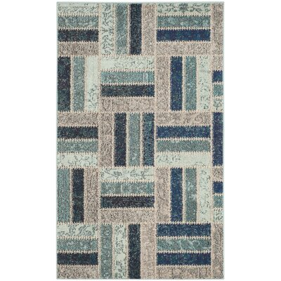 Mercado Gray/Blue Area Rug Rug Size: Rectangle 51 x 77