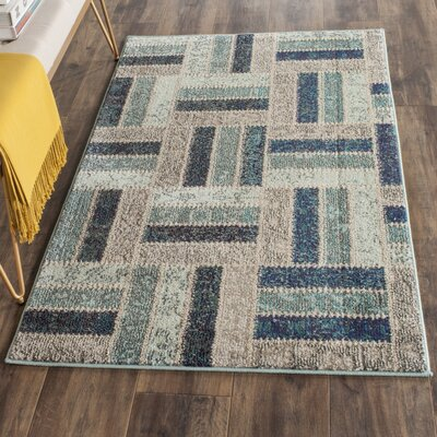 Mercado Gray/Blue Area Rug Rug Size: Rectangle 9 x 12