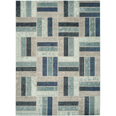 Mercado Gray & Blue Area Rug Rug Size: 8 x 11