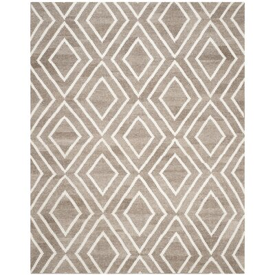Mata Kilim Hand-Woven Ivory/Gray Area Rug Rug Size: Rectangle 8 x 10