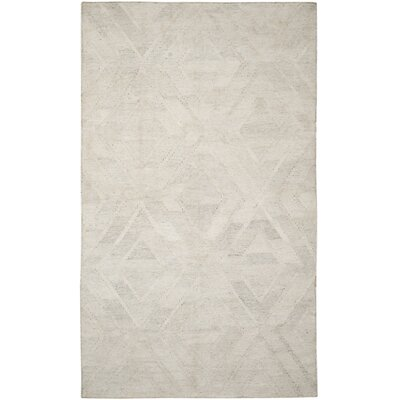 Mata Kilim Ivory/Light Gray Area Rug Rug Size: Rectangle 4 x 6