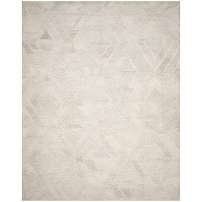 Mata Kilim Ivory/Light Gray Area Rug Rug Size: 8 x 10