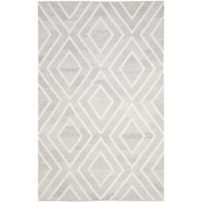 Mata Hand Woven Wool Gray/Ivory Area Rug Rug Size: Rectangle 4 x 6