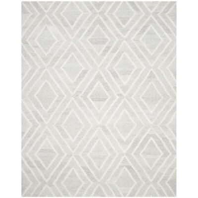 Mata Hand Woven Wool Gray/Ivory Area Rug Rug Size: Rectangle 8 x 10