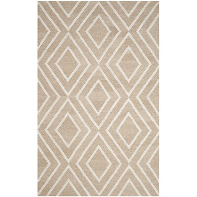 Mata Kilim Ivory & Beige Area Rug Rug Size: Rectangle 4 x 6