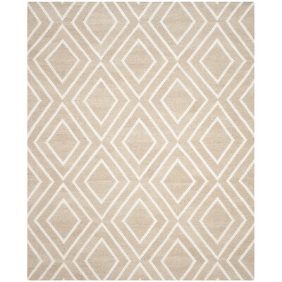 Mata Kilim Ivory & Beige Area Rug Rug Size: Rectangle 8 x 10