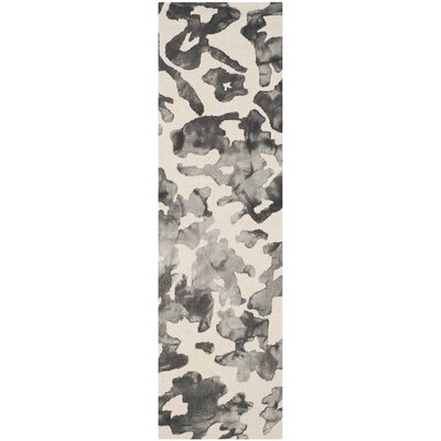 Chancey Dip Dyed Beige & Charcoal Area Rug Rug Size: Runner 23 x 8