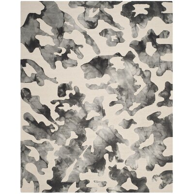 Kidd Dip Dyed Beige & Charcoal Area Rug Rug Size: 8 x 10