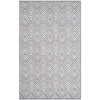 Kilim Hand-Woven Gray Area Rug Rug Size: Rectangle 5 x 8