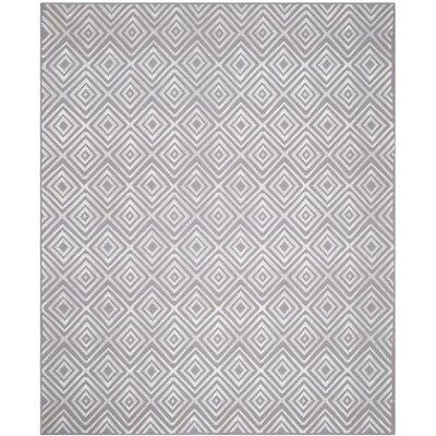 Kilim Hand-Woven Gray Area Rug Rug Size: 8 x 10