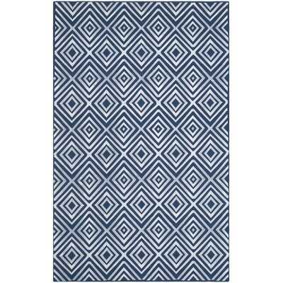 Mata Kilim Navy Area Rug Rug Size: Rectangle 5 x 8