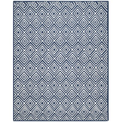 Mata Kilim Navy Area Rug Rug Size: Rectangle 8 x 10