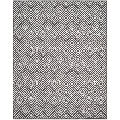Mata Kilim Hand-Woven Charcoal Area Rug Rug Size: Rectangle 8 x 10
