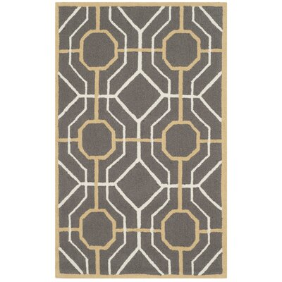 Naya Dark Gray/Ivory Indoor/Outdoor Area Rug Rug Size: Rectangle 36 x 56