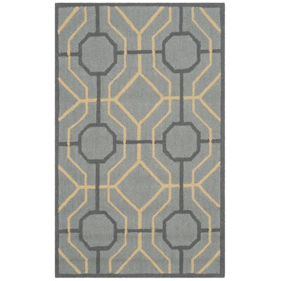 Naya Gray/Gold Indoor/Outdoor Area Rug Rug Size: 5 x 8