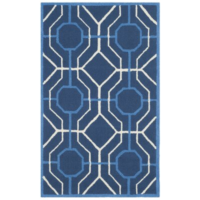 Naya Navy/Ivory Indoor/Outdoor Area Rug Rug Size: 5 x 8