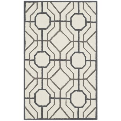 Levy Ivory/Black Indoor/Outdoor Area Rug Rug Size: 5 x 8