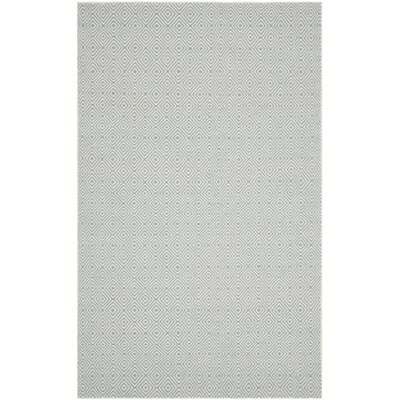 Davida Silver/Ivory Area Rug Rug Size: Rectangle 9 x 12