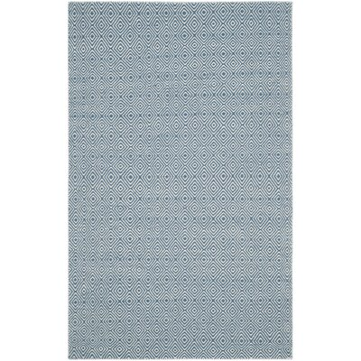 Davida Blue/Ivory Area Rug Rug Size: Rectangle 9 x 12