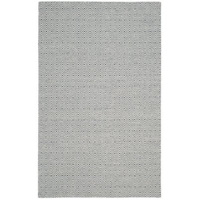 Davida Dark Gray/Ivory Area Rug Rug Size: Rectangle 6 x 9