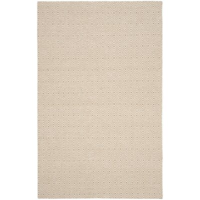 Davida Brown/Ivory Area Rug Rug Size: Rectangle 6 x 9