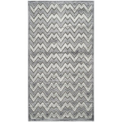 Drew Light Gray/Dark Gray Area Rug Rug Size: Rectangle 23 x 4