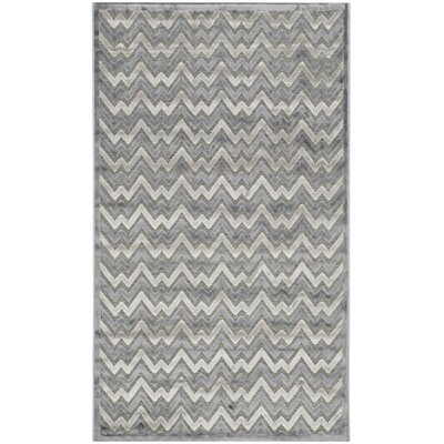 Drew Light Gray/Dark Gray Area Rug Rug Size: 4 x 6