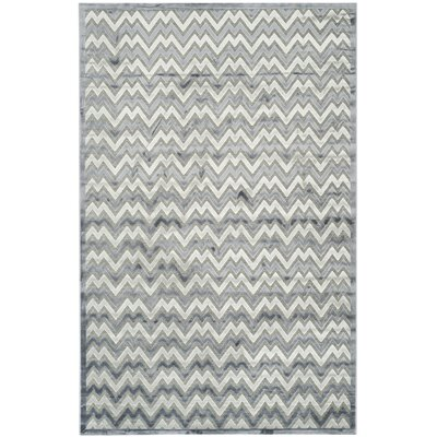 Drew Light Gray/Dark Gray Area Rug Rug Size: Rectangle 51 x 76