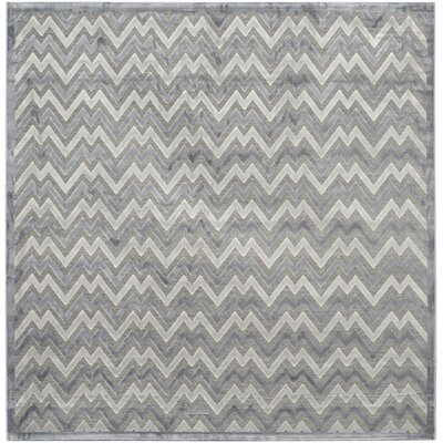 Navarro Light Gray/Dark Gray Area Rug Rug Size: Square 6'7