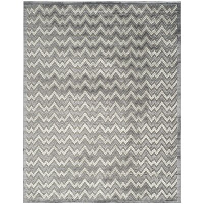 Navarro Light Gray/Dark Gray Area Rug Rug Size: 8 x 10