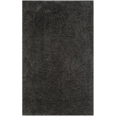 Page Dark Gray Shag Area Rug Rug Size: 5 x 8
