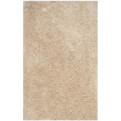 Page Beige Shag Area Rug Rug Size: Rectangle 5 x 8