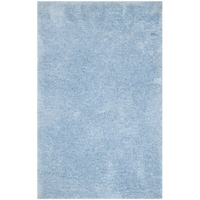 Page Light Blue Shag Area Rug Rug Size: Rectangle 3' x 5'