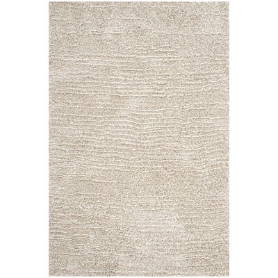 Ultimate Sand/Ivory Shag Area Rug Rug Size: Rectangle 5 x 8