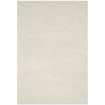 Mccall Ivory Shag Area Rug Rug Size: Rectangle 4 x 6