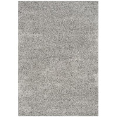 Mccall Silver Shag Area Rug Rug Size: Rectangle 53 x 76