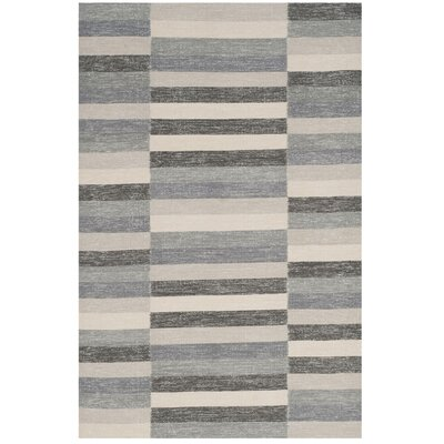 Mata Striped Kilim Gray Area Rug Rug Size: 8 x 10