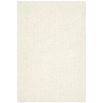 Upland Ivory Shag Area Rug Rug Size: Rectangle 4' x 6'