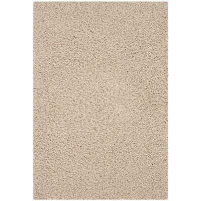 Upland Beige Shag Area Rug Rug Size: Rectangle 4' x 6'