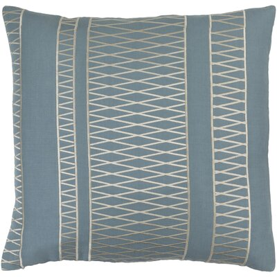 Barbara Linen Square Throw Pillow Size: 18 H x 18 W x 4 D, Color: Slate/Beige