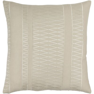 Barbara Linen Throw Pillow Size: 18 H x 18 W x 4 D, Color: Slate/Beige