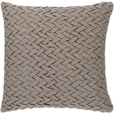 Krueger Down Throw Pillow Color: Taupe, Size: 22 H x 22 W x 4 D